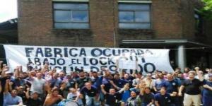 Empresa AGR de Clarín tomada por trabajadores