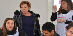 Ministra visitó escuela de Irregulares Motores en Pico