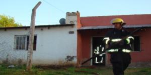 Se incendió una habitación de una casa