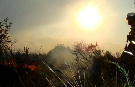 Incendio de San Luis pasó a La Pampa