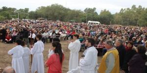 Cientos de peregrinos colmaron San José
