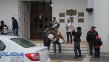 """Protesta de """"trapitos"""" en el municipio"""